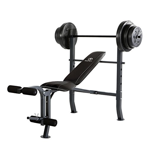 Marcy-Standard-Bench-with-100-lb-Weight-Set
