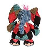 HuggleHounds Plush Durable Squeaky Chubbie Buddies Elephant Toy, Large
