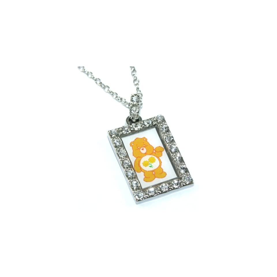 Officially Licensed Friend Bear Care Bear Charm Necklace with Crystals