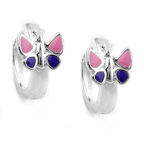 Ohrring Schmetterling für Mädchen pink