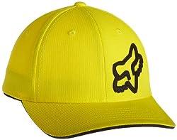 Fox Big Boys' Signature Flexfit Hat, Yellow, One Size