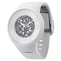 オーディーエム o.d.m Keith Haring キース・へリング メンズ レディース腕時計 DD127A (ホワイト(DD127A-15))