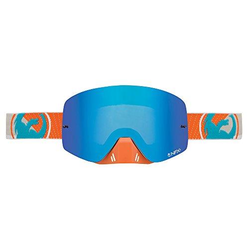 dragon-nfxs-mascara-de-deporte-oro-ahumado-ionizadas-color-azul-azul-bleu-acier-tamano-small