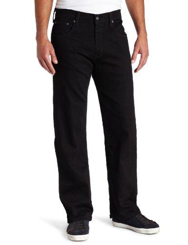 Levi's Men's 569 Loose Straight Leg Jean, Black, 42x30