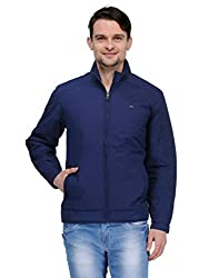 Canary London Navy Polyester Men's Outdoor Jacket