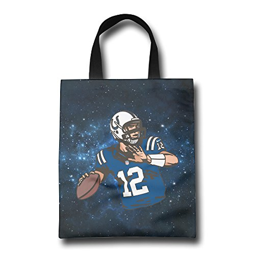 Colts Quarterback #12 Grocery Shopper Bag With Reinforced Durable Handles