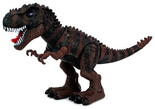 Dinosaur Century Tyrannosaurus Rex T-Rex Battery Operated Toy Dinosaur Figure w/ Realistic Movement, Lights and Sounds (Colors May Vary) by Velocity Toys