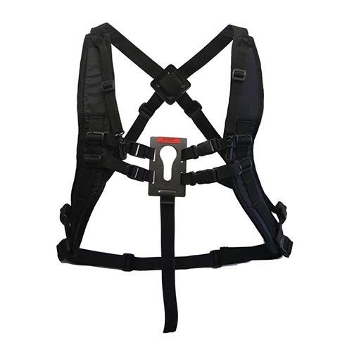 Keyhole Hands-Free Camera and Binocular System with Shoulder Straps, Black