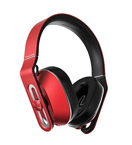 1 More MK802 Bluetooth cuffie over-ear con microfono e telecomando (Rosso)