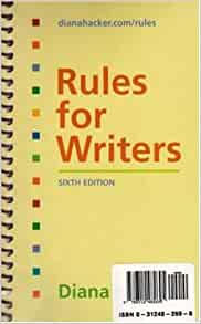 FOR WRITERS RULES