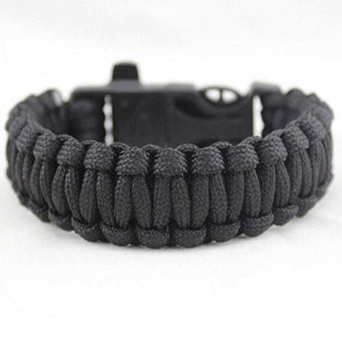 Franterd Multifunctional Paracord Outdoor Rescue Rope - Fire Starter Umbrella Rope Bracelet - Survival Gear (Starter Running compare prices)