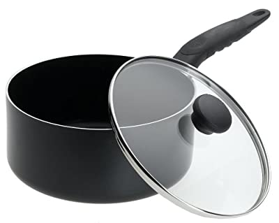 Mirro A79724 Get A Grip Aluminum Nonstick 3-Quart Saucepan with Glass Lid Cover Cookware