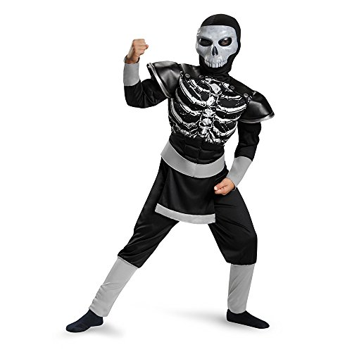 Disguise 85333L Skeleton Ninja Muscle Costume, Small (4-6)