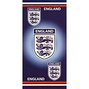 Official England Crest Football 100% cotton beach towel