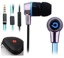 buy Earphones Headphones Volume Control Anti Tangle Cable To Suit Nokia Lumia Windows Phone 520 620 720 820 920 1020 625 925 (Blue)