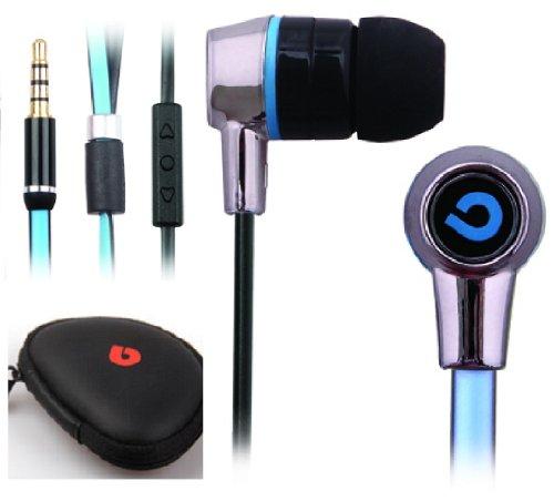 Earphones Headphones Volume Control Anti Tangle Cable To Suit Nokia Lumia Windows Phone 520 620 720 820 920 1020 625 925 (Blue)