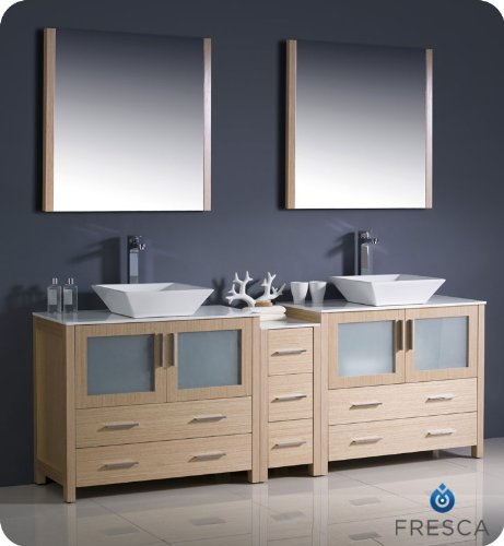 Fresca Torino 84 Modern Double Sink Bathroom Vanity With One Side
