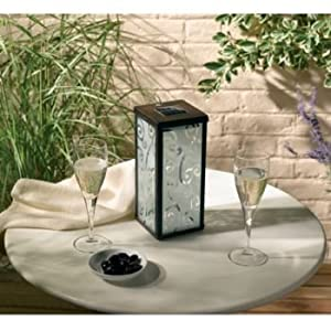 Frosted Solar Scroll Lantern Single Pack