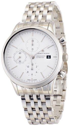 Maurice Lacroix Men's LC6058-SS002130 Les Classiques Silver Chronograph Dial Watch