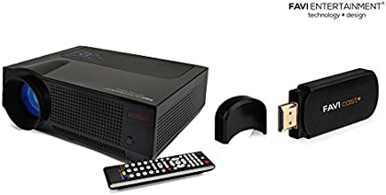 FAVI 4T Projector with Cast TV for Android iOS Mac and Windows Devices