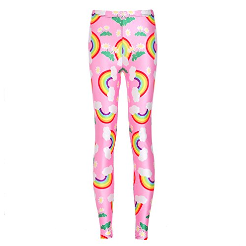 Womens Printed Leggings Rainbow