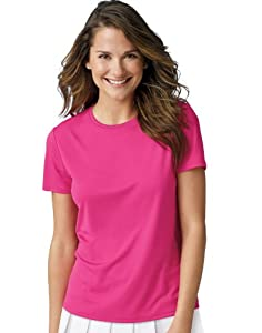 Hanes 4 oz Women's Cool Dri Performance T-Shirt Wow Pink L