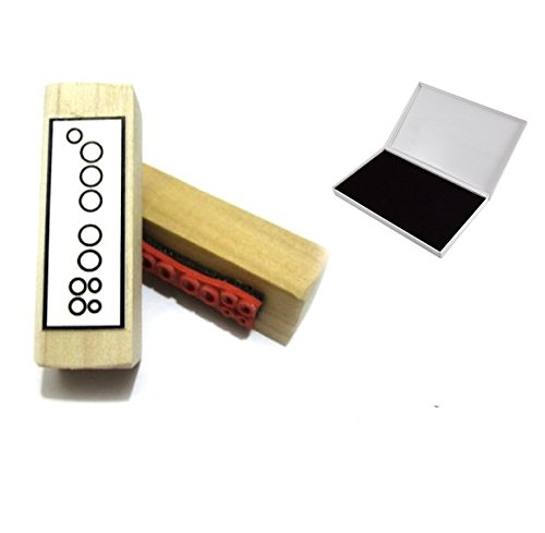 Recorder-Griffweise-Gummi-Stempel-und-Stempel-Pad