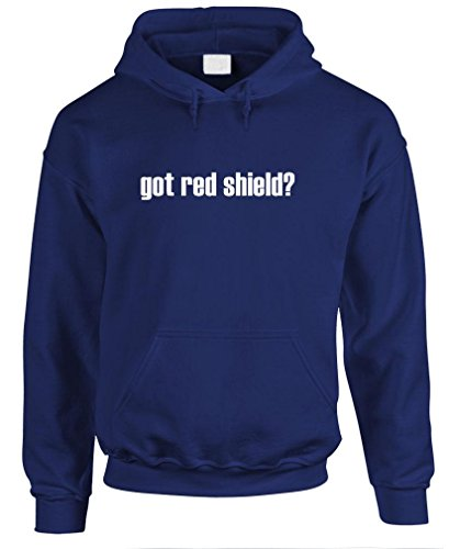 Got Red Shield? - Mens Pullover Hoodie, S, Navy