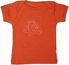 TwOOwls OrangePink Rose Short Sleeve Tee -100 organic cotton