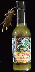 Gator Squeezins Jalapeno Alligator Hot Sauce With Free Gator Claw