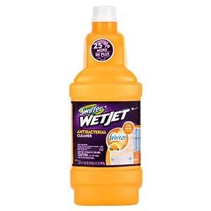 Swiffer Wetjet Antibacterial Cleaner Refill, Citrus & Light Scent, 42.2 oz (4 pack)