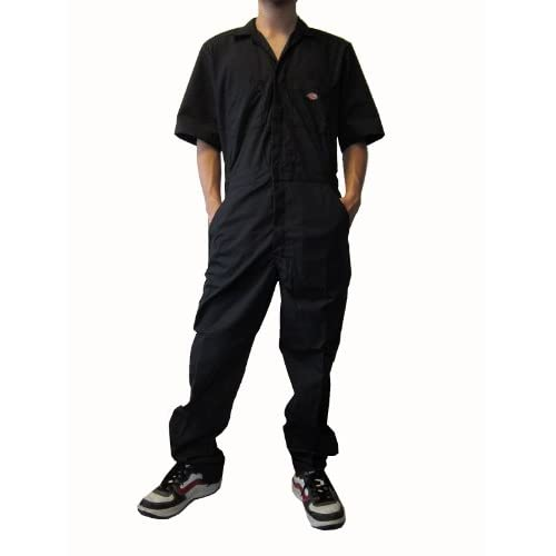 (ディッキーズ) Dickies 3399 COVERALL 半袖つなぎ カバーオール クロ Lサイズ【並行輸入品】