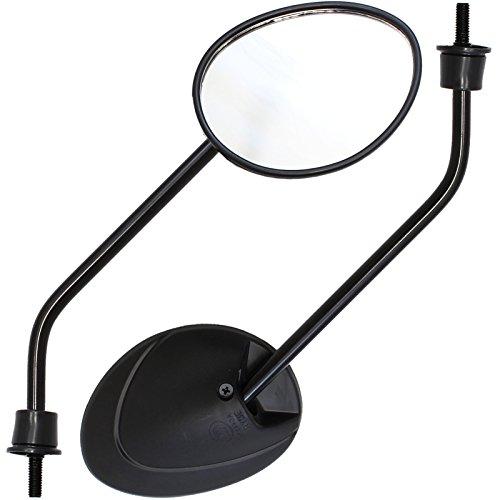 Ryde - Specchietti 8mm per scooter a norma EU - Nero