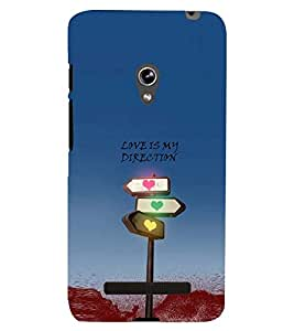 PRINTSWAG LOVE QUOTE Designer Back Cover Case for ASUS ZENFONE 5 A501CG