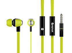 Candytech Stereo Sound Earphone (Greenyellow)