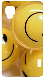 Smiley Balls White Back Cover Case for LG Optimus L5 II E460