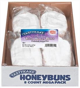 Tastykake Iced Honey Buns 3/8 Count Boxes
