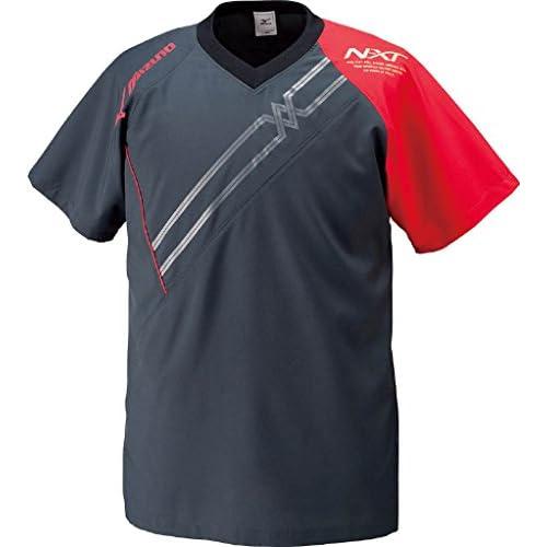 (ミズノ)MIZUNO クロスシャツ V2JC4020 96 ブラック×レッド M