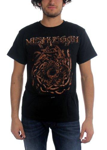 Meshuggah-Serpenti-Maglietta da uomo, a spirale, colore: nero nero