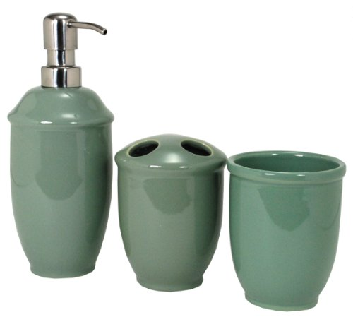 Nuvo Design Roma Ceramic Bath Set, 3 Piece