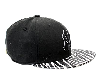 New Era 9Fifty New York Yankees Ostrich Vize Zebra Strapback Hat 950-ZEBRANEYYAN by New Era