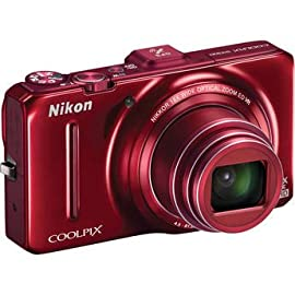 Nikon Coolpix S9300 Digital Camera (Red)