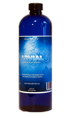 Advial Colloidal Silver Solution, 500 ml, 16.8 Fluid Oz.
