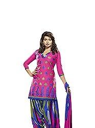 Tangerines Cotton Salwar Kameez Suit UnStitched Dress Material