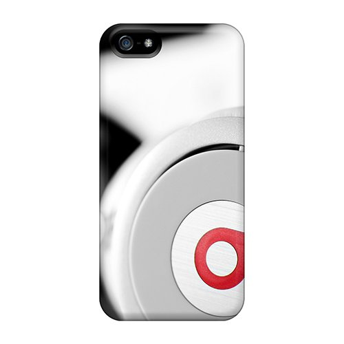 Defender Case For Iphone 5/5S, White Beats Headphones Pattern