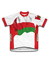 Oman Flag Short Sleeve Cycling Jersey for Women