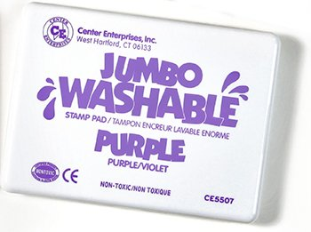 8 Pack CENTER ENTERPRISES INC. JUMBO STAMP PAD PURPLE WASHABLE