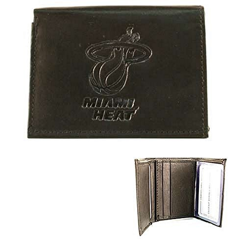 NBA Officially Licensed Genuine Leather Wallet -Black (Miami Heat) (Miami Heat Wallet compare prices)