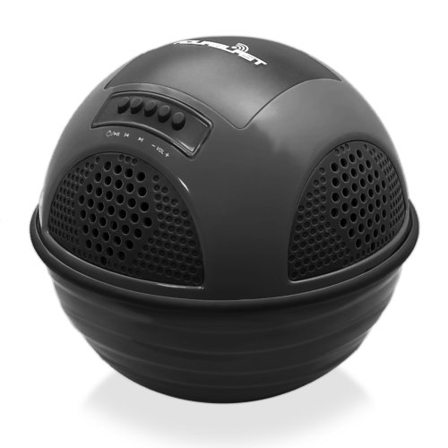 Pyle PWR90DBK Aqua Blast Waterproof Bluetooth Floating Pool Speaker System with Built-In Rechargeable Battery and Wireless Music Streaming