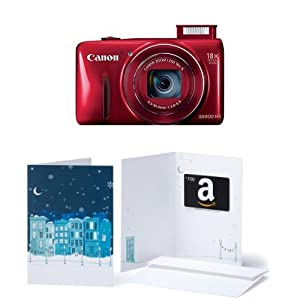 Canon PowerShot SX600 HS 16MP Digital Camera with Built-In Wi-Fi and $100 Amazon Gift Card